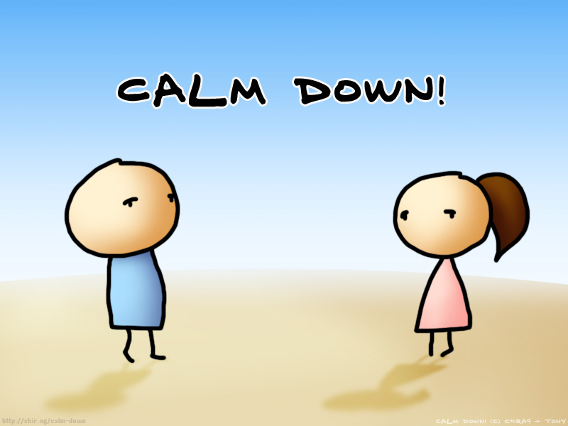 People being calm