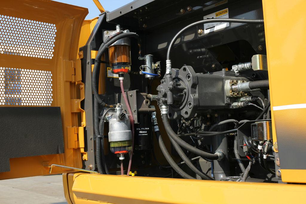 挖掘机液压系统_采用电子控制压力补偿的液压挖掘机液压系统与传统的液压系统比较